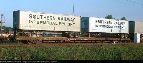 TTAX 970052 Description: On Southern Railway train No. 222. Trailers are SOUZ 206238 and SOUZ 206290 [month approximate) Photo Date: 4/1/1975 Location: New Orleans, LA Author: James H. Selzer, Jr. Categories: RollingStock
