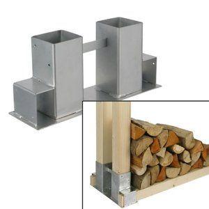 4x Holzstapelhalter Metall f/ür Brennholz-Regal Stapelhilfe Kaminholz von Gartenpirat