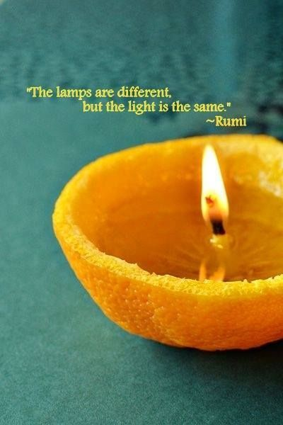 The lamps may be different, but the light is the same.. -Rumi    Source by rvagirl    Source by quotesfan