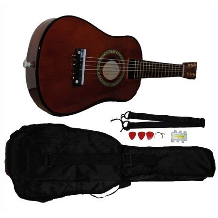 Mini Kids Acoustic Toy Guitar Kit Gig Bag Picks Strap Tuner Coffee Walmart Com In 2020 Guitar Kits Guitar Kids Guitar Tuners