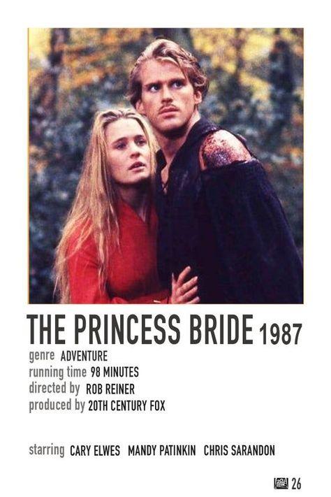 Simple Polaroid Movie Poster: The Princess Bride