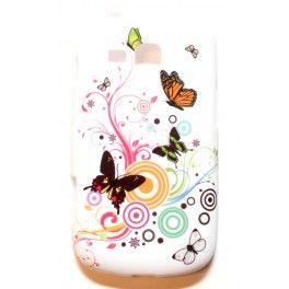 Galaxy Trend värikkäät perhoset silikonisuojus.
