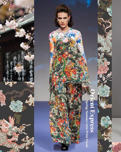 Spring/Summer 2020 Print & Pattern Trend - Orient Express | Patternbank