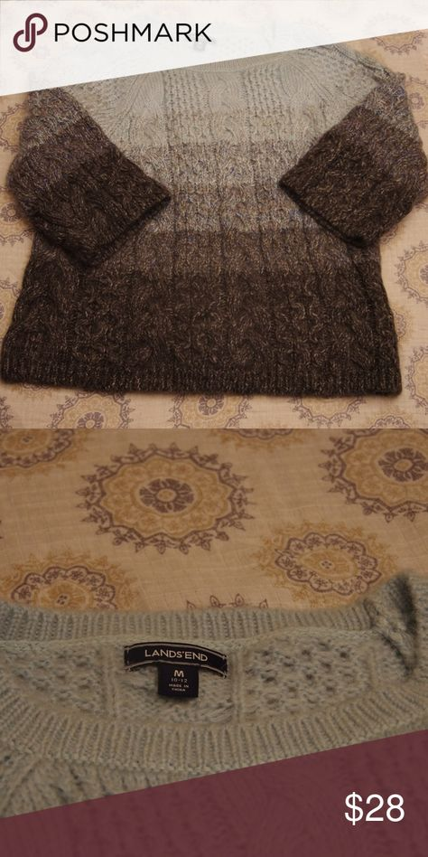 1a867593b Land s End - Mohair Cable Knit Sweater - NWOT Land s End - Cable Knit  Sweater. NWOT. Brand new