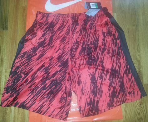 NIKE K Men's Dri Fit Speed Fly Basketball Shorts XL Red