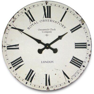 Charlton Home Oversized Casteel 27 5 Wall Clock Finish White Wall Clock Wall Clock Simple Black Wall Clock