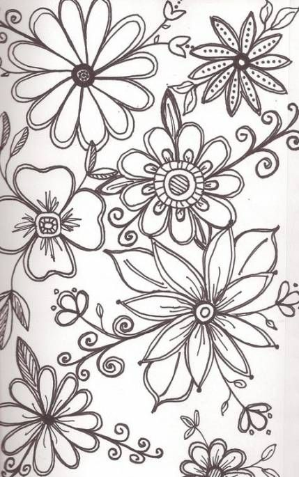 Flowers Drawing Doodles Embroidery 21 Ideas Drawing Flowers