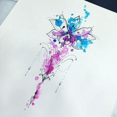 Watercolor- Watercolor  Watercolor  -#watercolorTattoocat #watercolorTattoodandelion #watercolorTattoodog #watercolorTattoofeather #watercolorTattoohip #水彩タトゥー