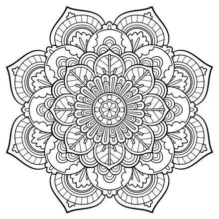 Coloring Book For Adults Online Detailed Coloring Pages Flower Coloring Pages Mandala Coloring Pages