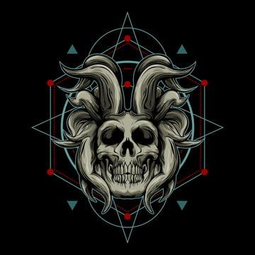 Demon Skull And Sacred Geometry Anatomic Anatomy Art Png And Vector With Transparent Background For Free Download In 2021 Skull Illustration Sacred Geometry Watercolor Flower Illustration