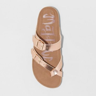 db960472741f Women s Wide Width Mad Love Prudence Footbed Sandal - Rose Gold 7W ...
