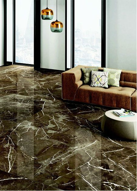 Contemporary Living Room Design With Amazing Marble Floor Marble