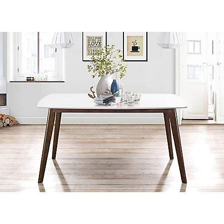 Long White Top Mid Century Modern Dining Table With Images Mid