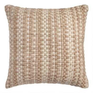 Clearance Decor Pillows World Market In 2020 Outdoor Throw Pillows Natural Throw Pillows Throw Pillows