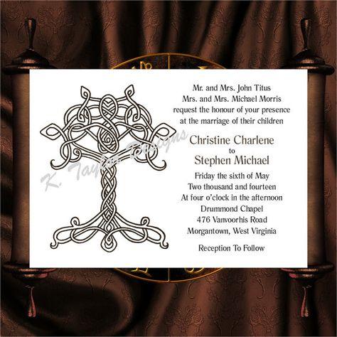 tree of life invitation rsvp celtic life tree wedding invitation