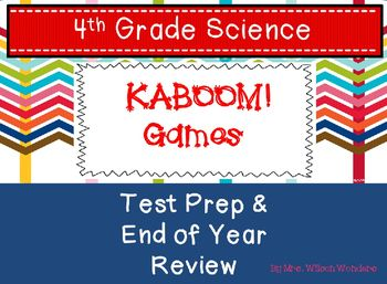 Test Prep End Of Year 4th Grade Science Review Games 4th Grade