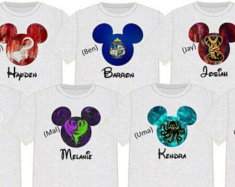 6b4785d826eb8 Disney Shirt DESCENDANTS Disney Vacation Disney Group Shirts Disney ...
