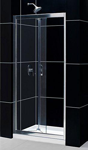 Cheap Dreamline Butterfly 34 35 1 2 In Width Frameless Bi Fold Shower Door 1 4 Glass Chrome Finish Bifold Shower Door Shower Doors Frameless Shower Doors