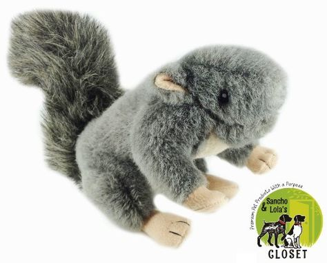 Amazon Com New Single Plush Squirrel Dog Toy 3 Squeakers For
