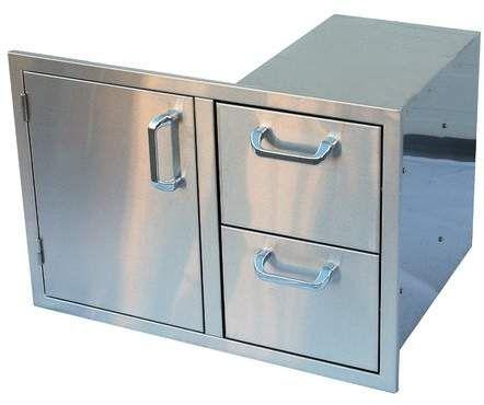 18 25 Stainless Steel Drop In Door Drawer Combo Outdoor Kitchen Cabinets Modular Outdoor Kitchens Stainless Steel Doors