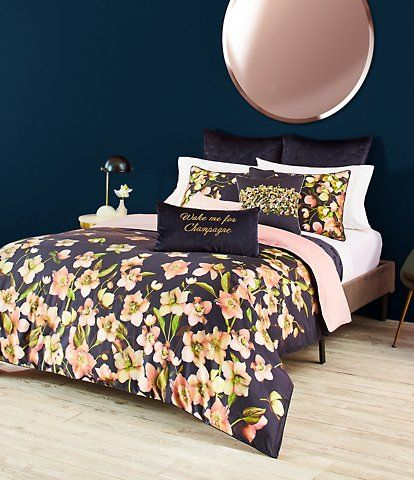 Ted Baker London Arboretum Floral Sateen Comforter Mini Set Duvet Cover Sets Reversible Duvet Covers Modern Bed Set