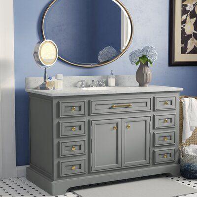 Derby 48 Single Sink Bathroom Vanity Set Base Finish Grey In 2020 Single Sink Bathroom Vanity Bathroom Sink Vanity Single Bathroom Vanity