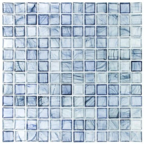 Clear Glass Mosaic Tile Stained Sky Blue 12x12 For Kitchen Backsplash Bathroom Shower Spa Pool Waterline Swim Tile Stained Mosaic Glass Glass Mosaic Tiles