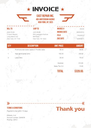 Military Orange (No Logo) Invoices Pinterest Template and - how do you create an invoice