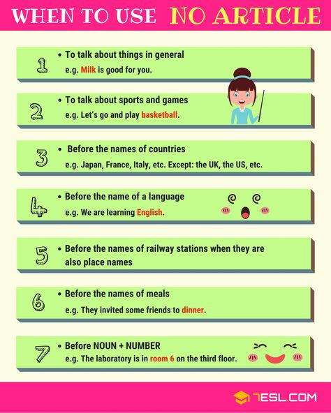 When to Use NO ARTICLE in English with 7 Useful Rules • 7ESL