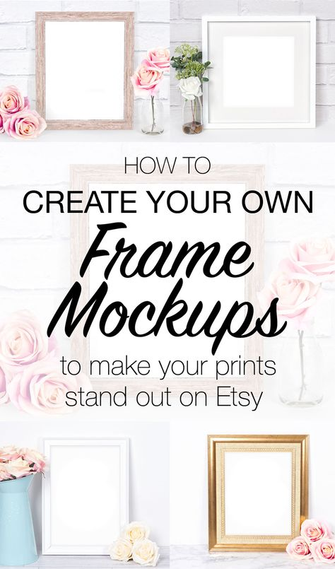 How to make your own frame mockup photos to display your prints in your etsy shop. Use Pixomize to make your own custom frame mockup styled stock photographs with or without photoshop! Etsy Business, Craft Business, Business Design, Creative Business, Corporate Design, Magazine Design, Magazine Layouts, Graphic Design Posters, Brochure Design