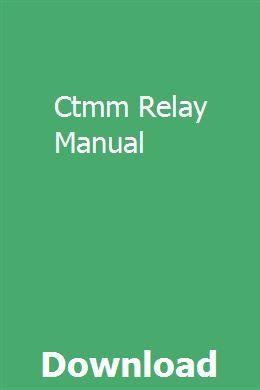 Ctmm Relay Manual | viechromizek | Repair manuals, Crawler crane