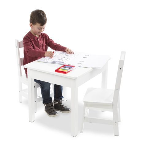 Fabulous Melissa And Doug Table And Chair Painted White Childrens Gmtry Best Dining Table And Chair Ideas Images Gmtryco