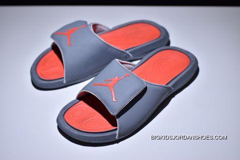 a5b57bef38e Air Jordan Hydro 6 Sandals Grey Orange Red Women Men New Release