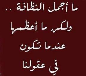 حكم عن النظافة عبارات وامثال عن النظافة Arabic Words Words Arabic