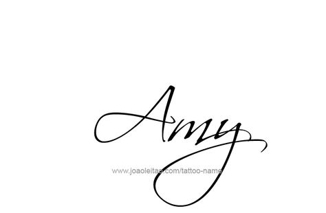 Tattoo Design Name Amy