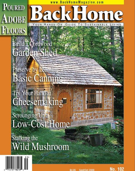 A cordwood garden shed in Green Bay, Wisconsin.  Read the article at http://cordwoodconstruction.wordpress.com/2013/03/08/cordwood-cottage-garden-shed-in-green-bay-wisconsin/