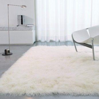 magnifique tapis blanc doux