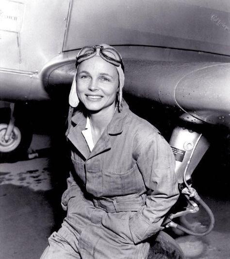 B&W WW2 Photo WWII Female Ferry Pilot USAAC US Army World War Two WAC Women     eBay