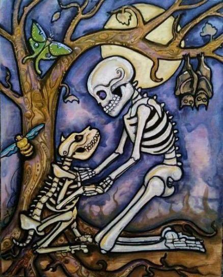 Savvy 11-BOXER-SUGAR SKULL-Mutande Dia de los Muertos Animal