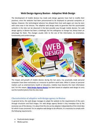 Web Design Agency Boston Adaptive Web Design Web Design Web Design Agency Design Agency