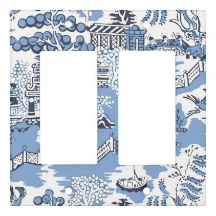 BLUE WILLOW III SWITCHPLATE COVER