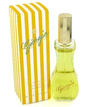 Giorgio by Giorgio Beverly Hills. A rage in the 80s. Can't remember the scent (because it was too expensive for my teenage resources; I bought a bottle and rarely used it). The packaging sure was gorgeous.