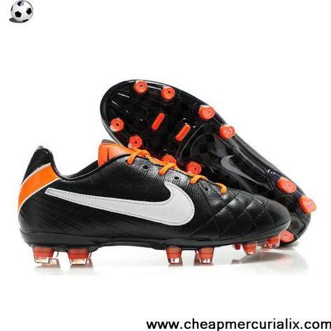 new arrival 34881 ff5ba Buy Nike Tiempo Legend IV Elite FG Black White Orange For Sale