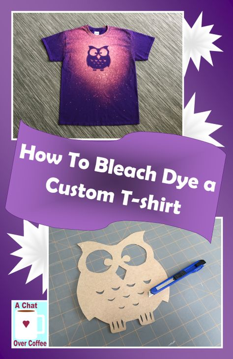 How To Bleach Dye A T Shirt To Make A Custom Graphic T