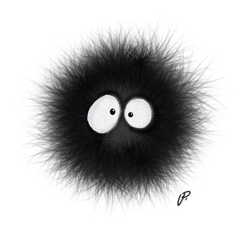 Happy birthday Hayao Miyazaki. Susuwatari (dust bunny, door sprite....whatever)  #hayaomiyazaki #myneighbortotoro #susuwatari #dustbunny #studioghibli #digitalart #illustration