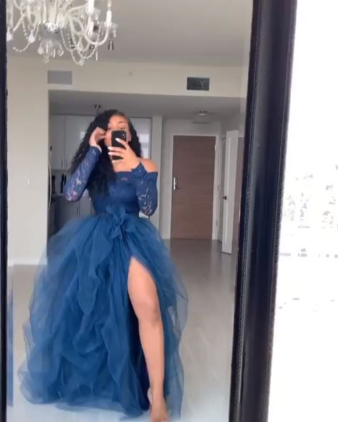 Long Sleeve Royal Blue Prom Gown, Prom Dress, long prom dress, evening dress, prom dresses