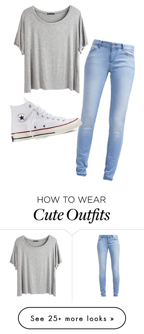 """Cute and comfy fall outfit"" by bubbleblower22 on Polyvore featuring TOM TAILOR, Chicnova Fashion and Converse"