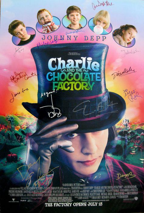 Charlie The Chocolate Factory Original 27x40 Movie Poster Cast