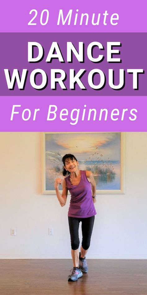Fitness Workout For Women, Fitness Tips, Dance Workout Videos, Dance Workouts, Senior Fitness, Dance Fitness, Daily Exercise Routines, 20 Minute Workout, Plus Size Workout