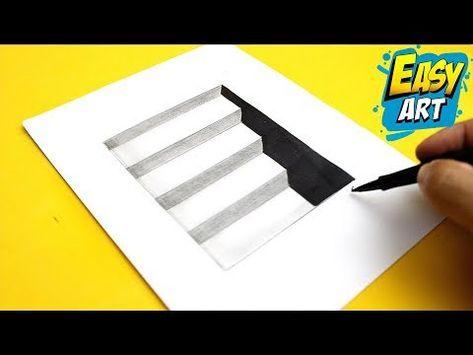 Super Facil How To Draw 3d Stairs Como Dibujar Escaleras 3d Dibujos Faciles Youtube Dibujos 3d A Lapiz Dibujos Tumbrl Dibujos 3d Faciles